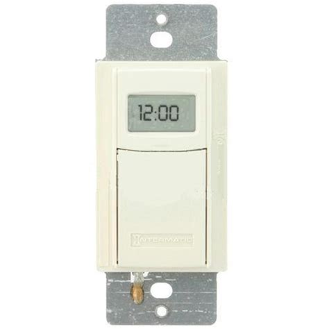 intermatic self adjusting wall switch timer almond