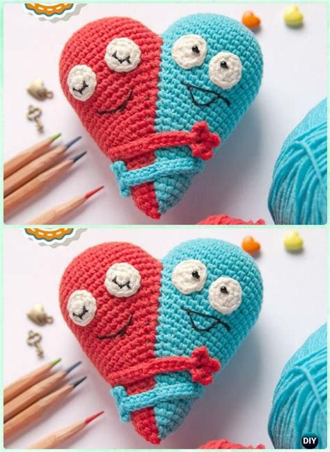 free pattern amigurumi heart 20 amigurumi crochet 3d heart free patterns perfect