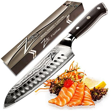review 8 inch damascus santoku knife premium 67 layer zelite infinity santoku knife 7 inch best quality