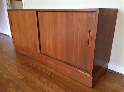 credenza with doors danish teak credenza with sliding doors and adjustable