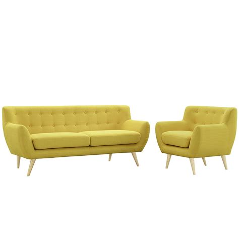 sofa and armchair modway remark mid century modern sofa and armchair home