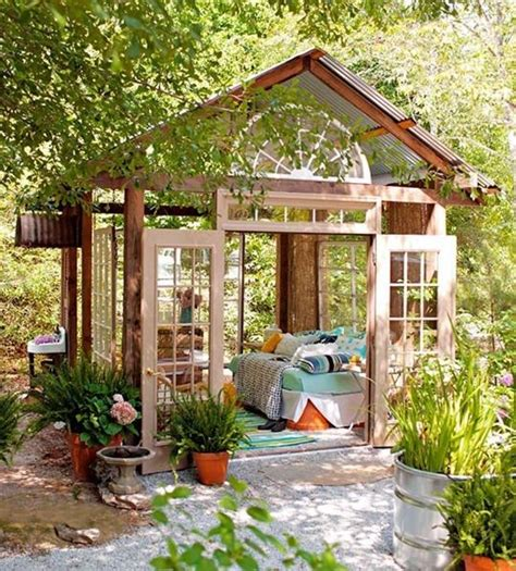 Shed Living Space by Converted Shed Into A Cozy Outdoor Room Pictures Photos