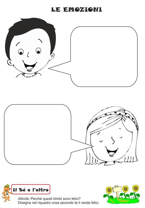 delle emozioni schede didattiche a scuola con poldo le emozioni