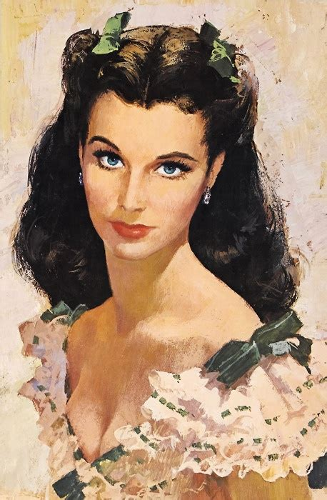scarlett o hara hairstyle scarlett o hara painting great art pinterest