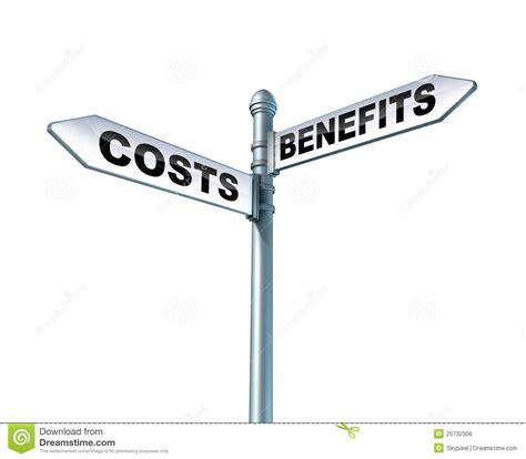 Was Kostet Eine Nutzungsänderung by Kosten Nutzen Dilemma Lizenzfreies Stockbild Bild 25732306