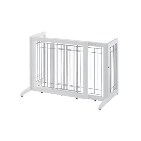 freestanding gate free standing pet gate small for hallways and doorways richell model r94135