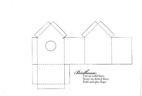 birdhouse templates cards http barefootster typepad files birdhousetemplate
