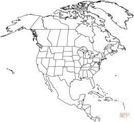 disegno mappa dell america del nord da colorare disegni da colorare stampare gratis