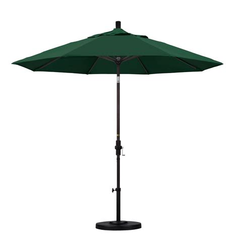 Patio Umbrella Green California Umbrella 9 Ft Aluminum Collar Tilt Patio Umbrella In Green Olefin Gscu908117