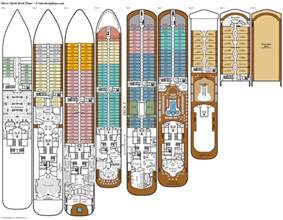 deck plans silver spirit deck plans diagrams pictures