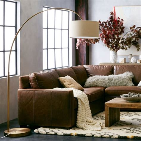 elm arc floor l 1000 ideas about brown sectional on leather
