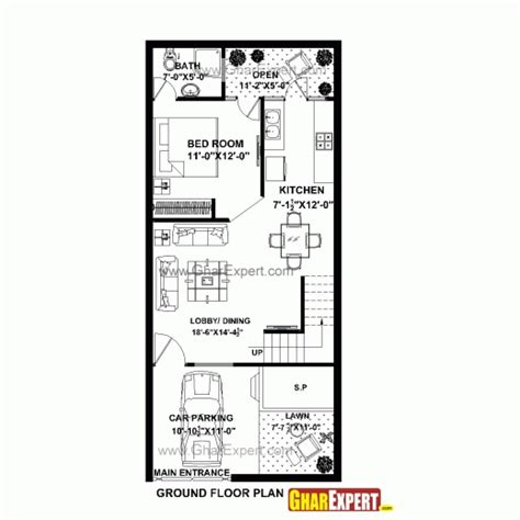 100 gaj sq ft best house plan for 20 feet 45 feet plot plot size 100