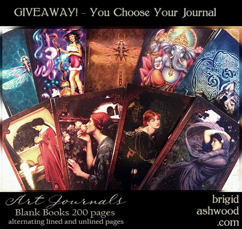 Journal Giveaway - art journal giveaway brigid ashwood