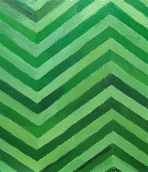 Green Stripes green stripes painting by kazuya akimoto