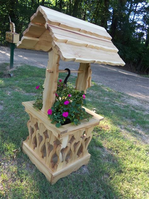 Wishing Well Planters by Wddsr Woodworks Wishing Well Planters