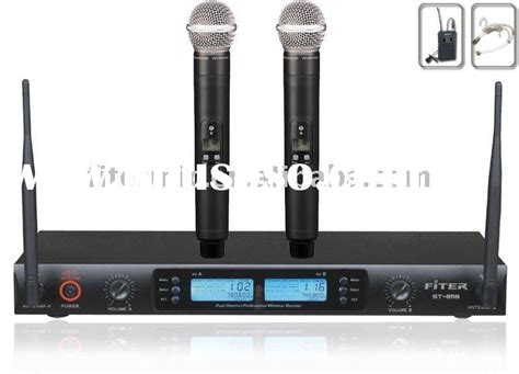 Microphone Werles Pewie Uhf 898 magic sing karaoke wireless microphone st 858 for sale price china manufacturer supplier 851106