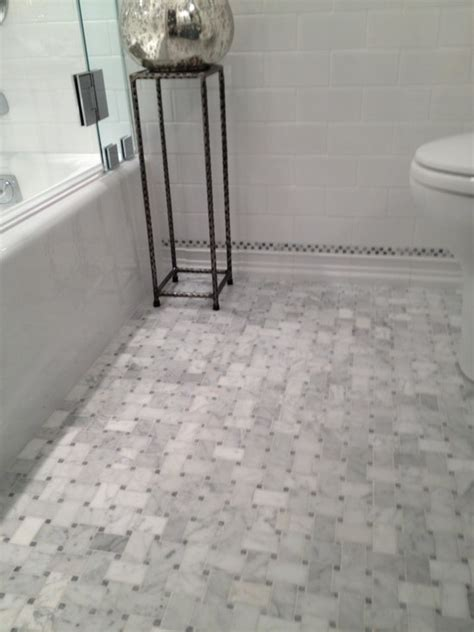 marble bathroom floors marble basketweave tile traditional bathroom