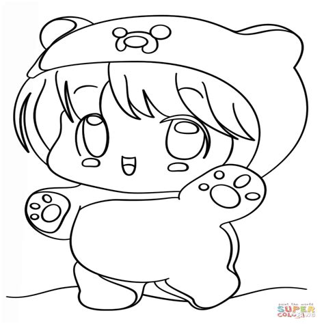 imagenes de animales kawaii para colorear dibujo de chibi finn kawaii para colorear dibujos para
