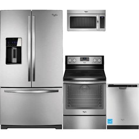 complete kitchen appliance packages whirlpool wrf989sdam stainless steel complete kitchen