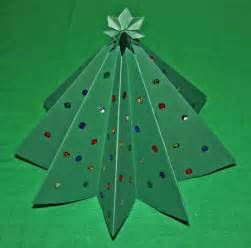 Easy christmas crafts paper christmas tree green card stock with