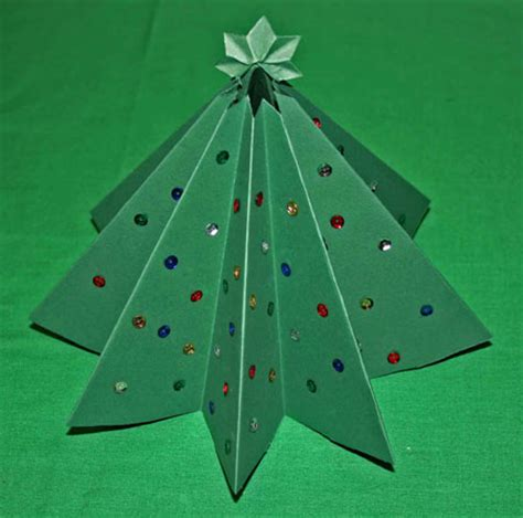xmas tree activity out of construction paper funezcrafts easy crafts folded paper tree