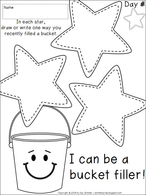 7 best images of fill your bucket printables bucket