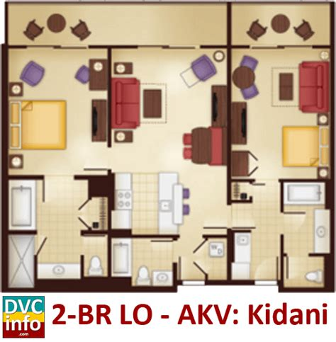 animal kingdom 2 bedroom villa floor plan disney s animal kingdom villas dvcinfo com