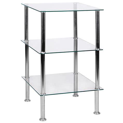 Three Tier Glass Shelf by 3 Tier Glass Shelf Unit Clear Lassic Everything For
