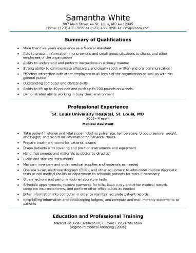example medical assistant resume best resume and cv inspiration