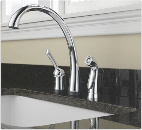 delta pilar kitchen faucet delta 4380t dst pilar single handle kitchen faucet with touch2o technology and spray chrome