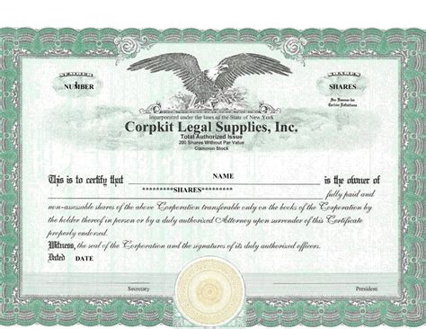 stock certificate template word svptraining info