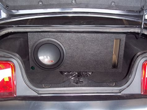 ford mustang subwoofer box 05 15 ford mustang single 12 quot ported sub box