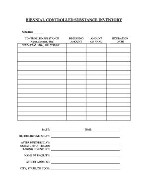 controlled substance log sheet template