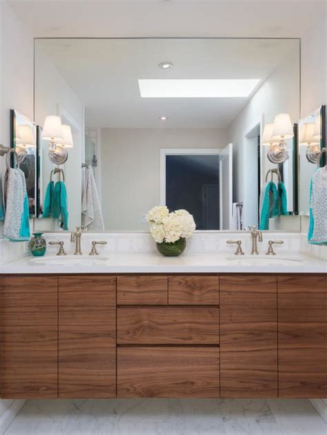 white floating bathroom vanity hgtv