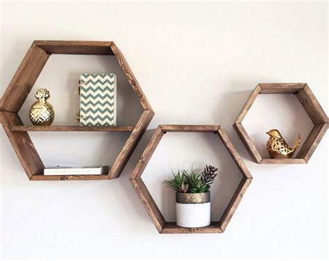 wood hexagon shelves white shelves wood wall shelves