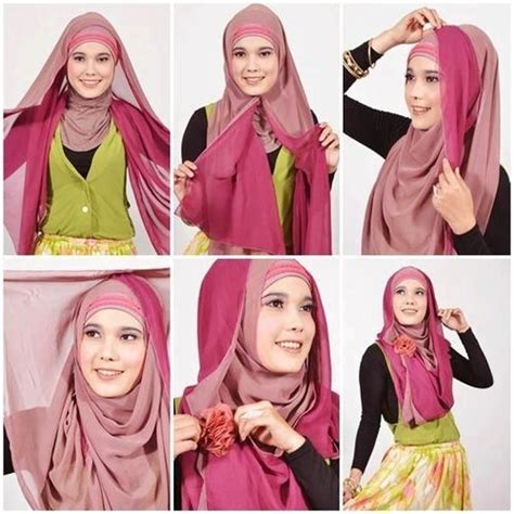 tutorial hijab in style segi empat hijab tutorial for formal events hijabiworld