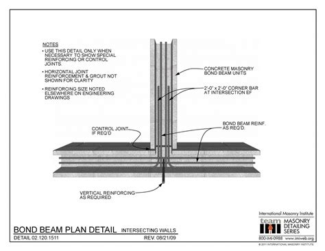 10 bond floor plans 02 120 1511 bond beam plan detail intersecting walls