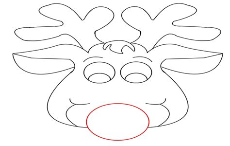 printable reindeer face templates deer mask template printable sketch coloring page