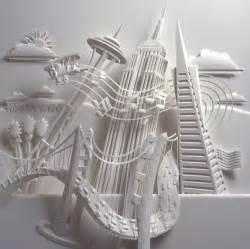 How To Make 3d Paper Sculptures - 3d paper sculpture xcitefun net