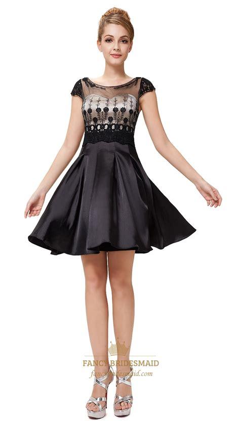 black cocktail dresses  sheer sleevessimple black