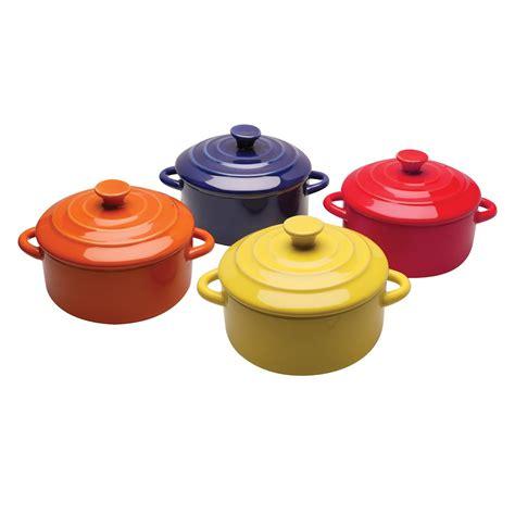 multi colored dishes multi colored mini casserole dishes set of four 8 oz
