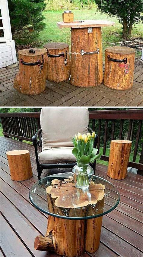 amazing diy tree log ideas   garden genmice