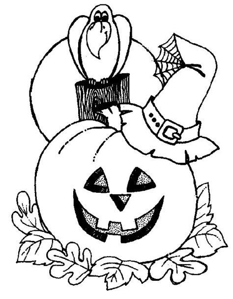 imagenes de calaveras y calabazas desenho de corvo e ab 243 bora do halloween para colorir
