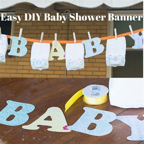 Diy Banner 1 diy baby shower banner