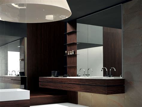 modern wood bathroom vanity milldue kubik 50 palissandro wood modern italian bathroom
