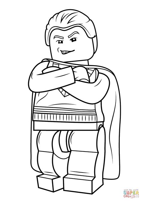 harry potter coloring pages of dobby lego draco malfoy coloring page free printable coloring