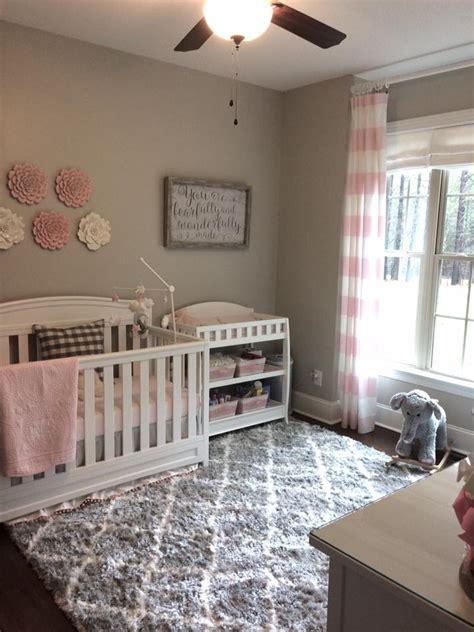 pale pink white  gray classic nursery project nursery