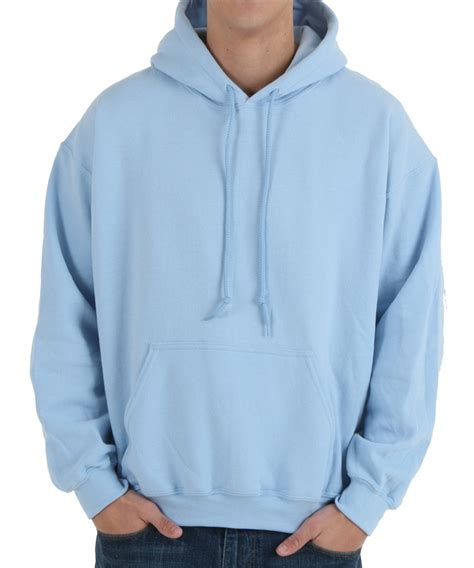 Mens Light Blue Hoodie Fashion Ql