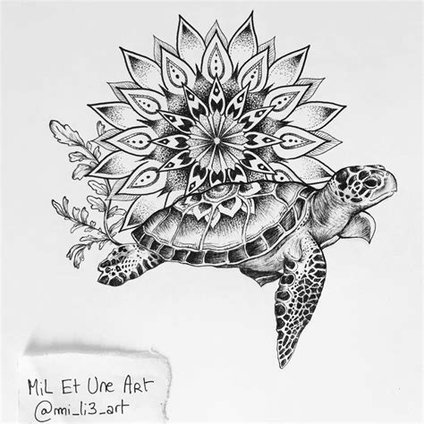 turtle mandala tattoo commission on behance