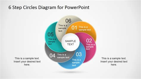 6 step circles diagram for powerpoint slidemodel